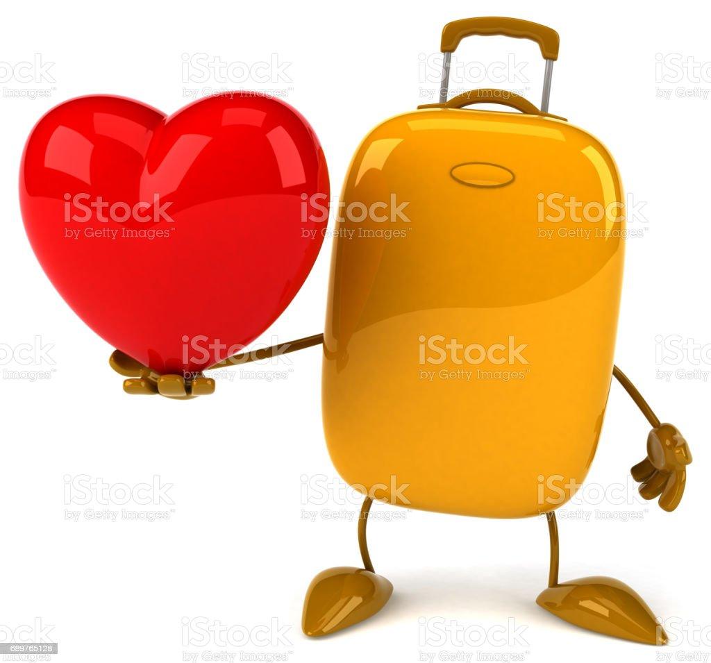 Fun suitcase stock photo