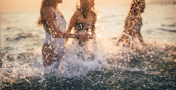 Fun summer moments stock photo