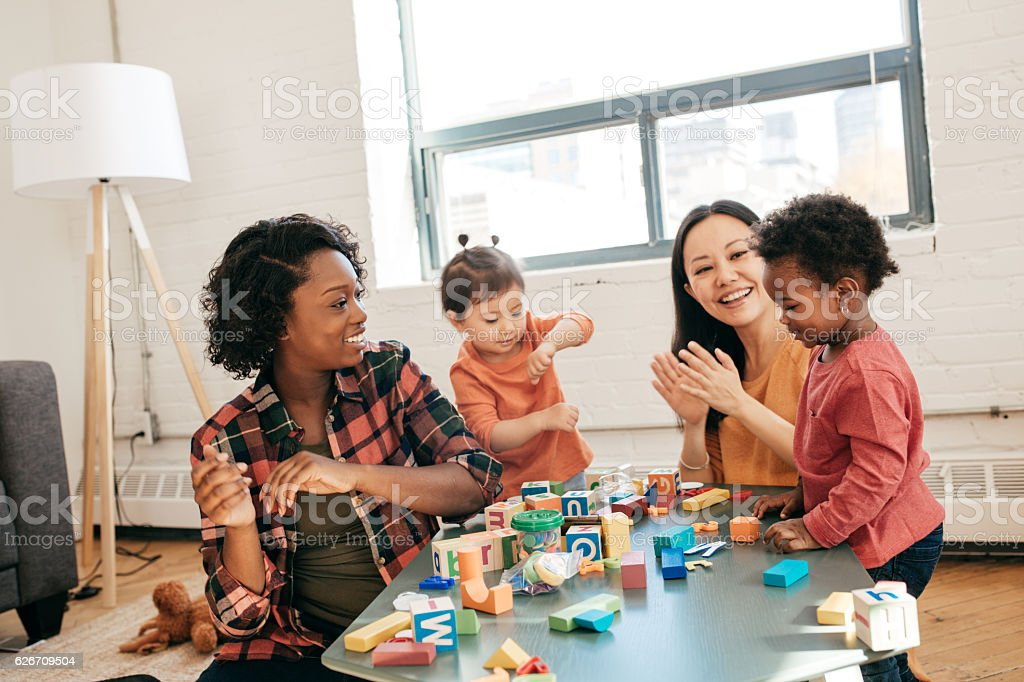 Fun time for toddlers stock photo