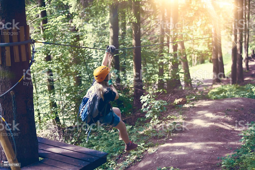 fun time in the forest stock photo