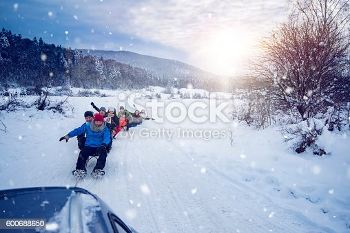 istock fun time on sled 600688650