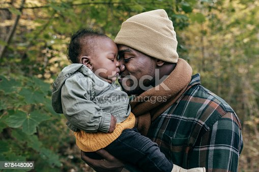 istock Fun time with dad in the park 878448090