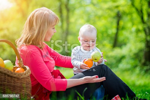 istock Fun times with mom and baby 535793742