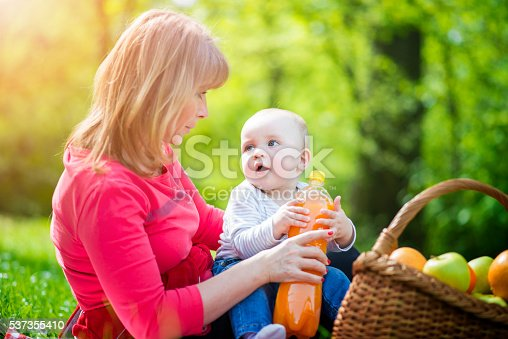 istock Fun times with mom and baby 537355410