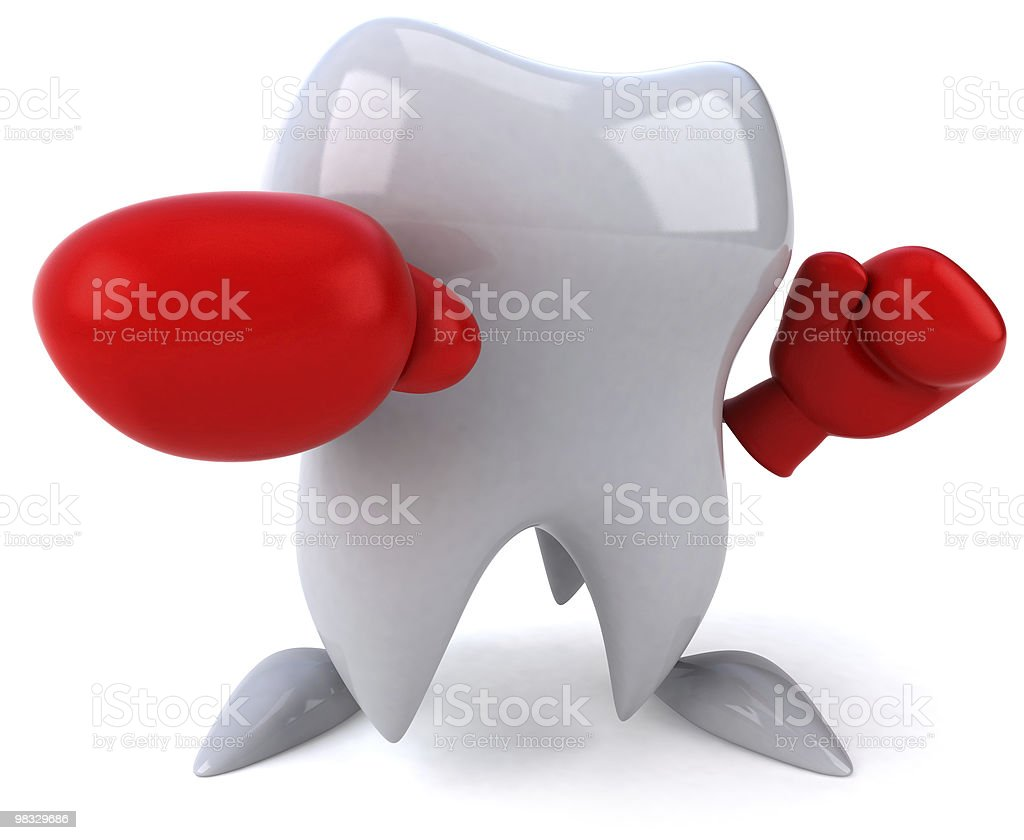 Fun tooth boxing royalty-free stock photo
