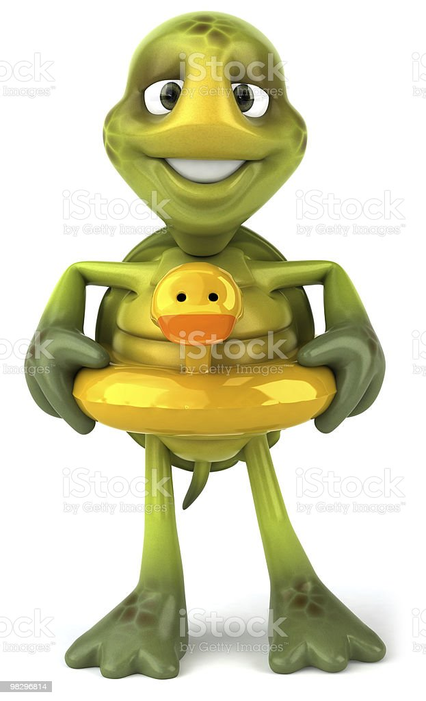 Fun turtle royalty-free stock photo