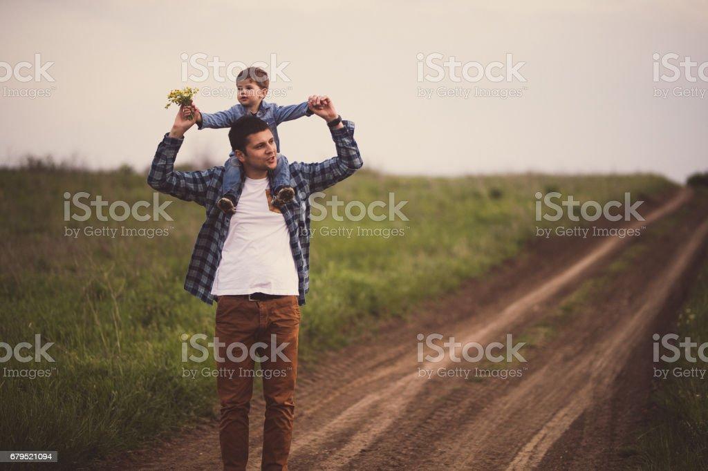 Fun walks in the countryside royalty-free stock photo