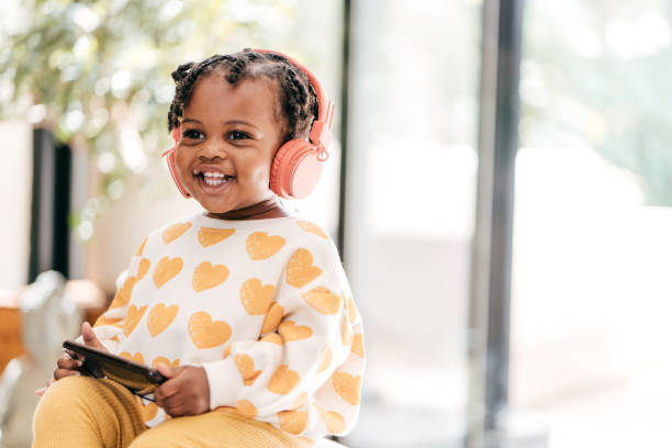 Fun ways to build your toddlers vocabulary stock photo