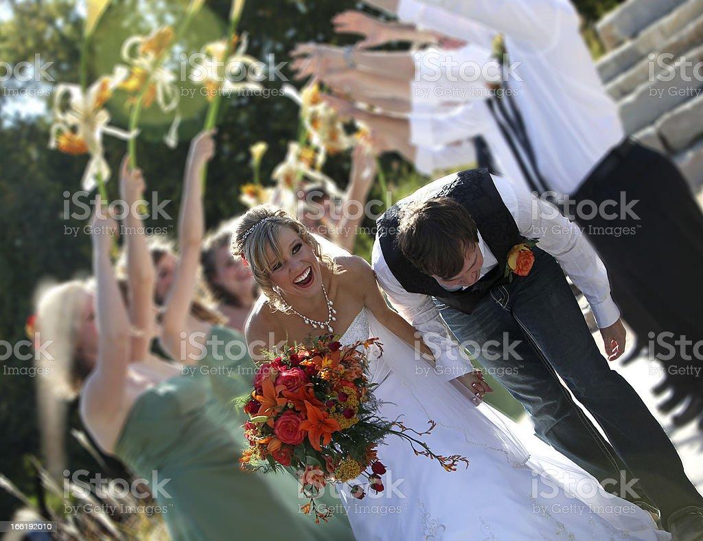 fun wedding royalty-free stock photo