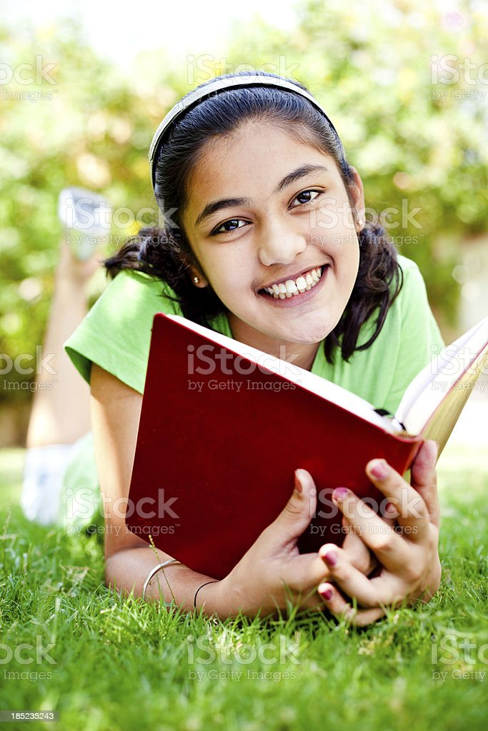 Fun with books royalty-free stock photo