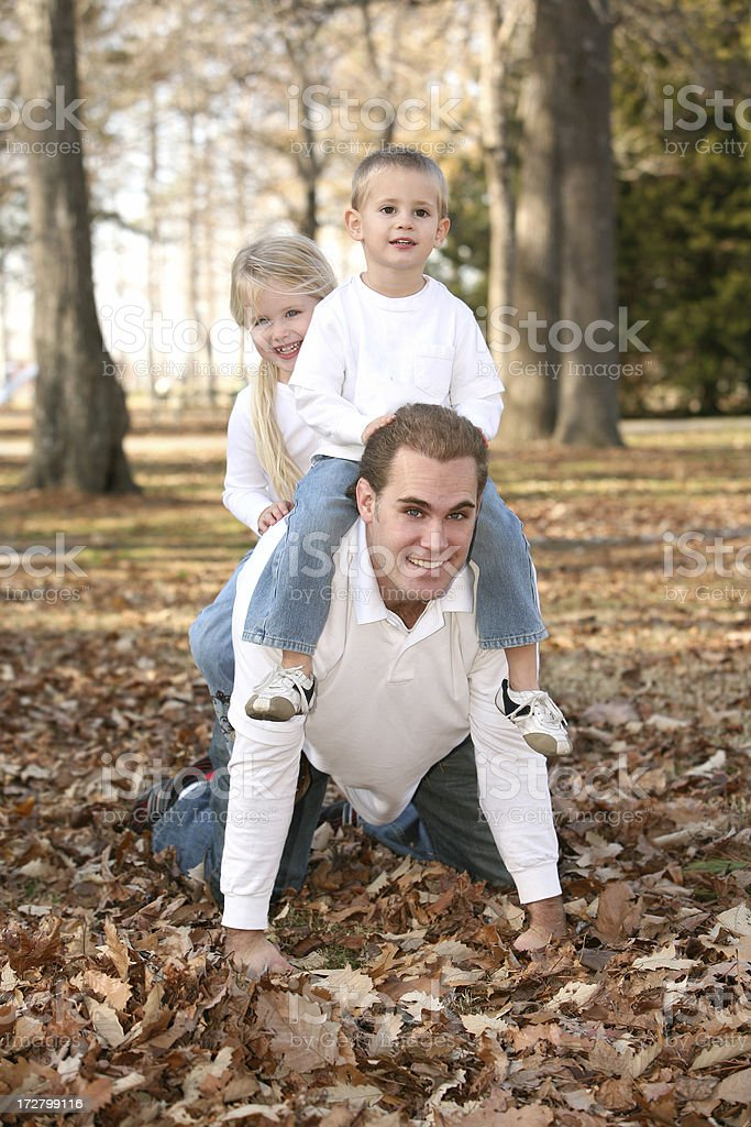 Fun with Dad royalty-free stock photo