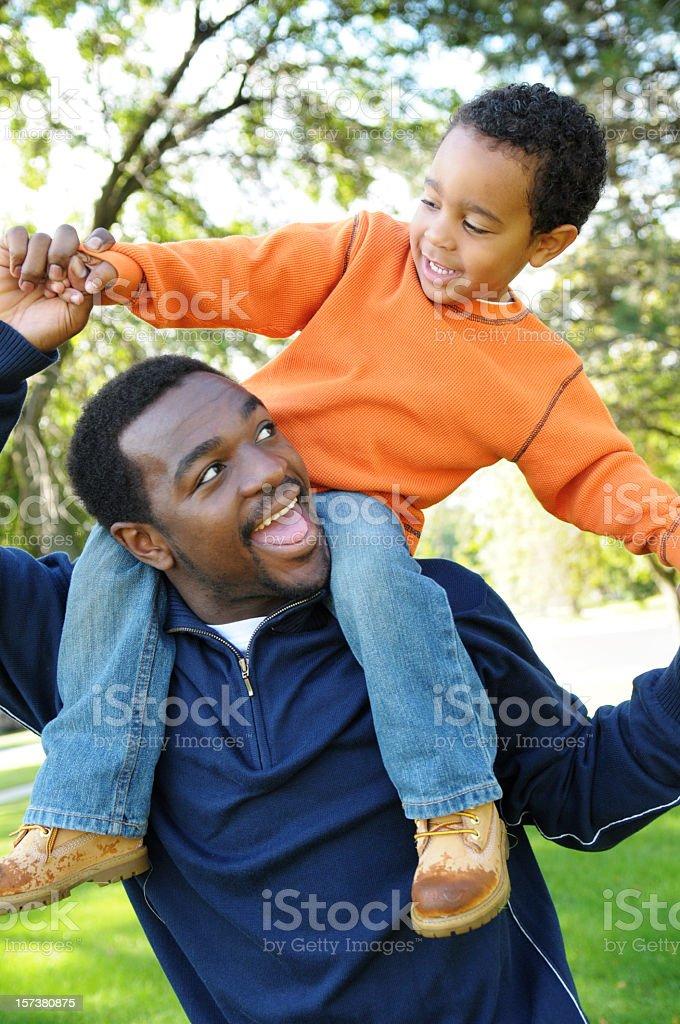 Fun with Daddy! stock photo