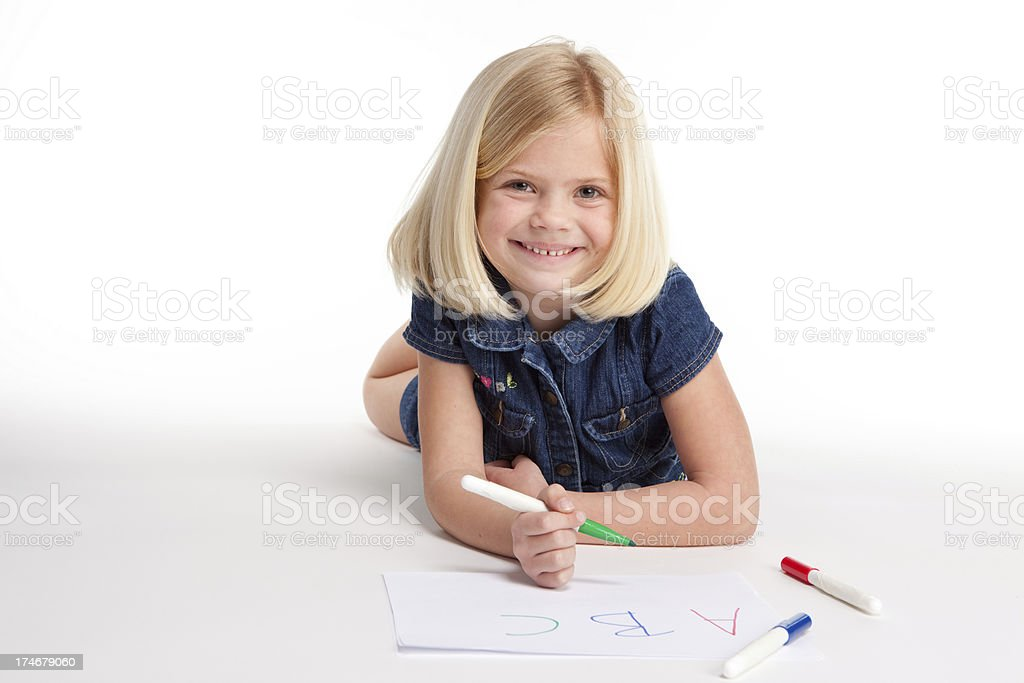 Fun with her ABCs royalty-free stock photo