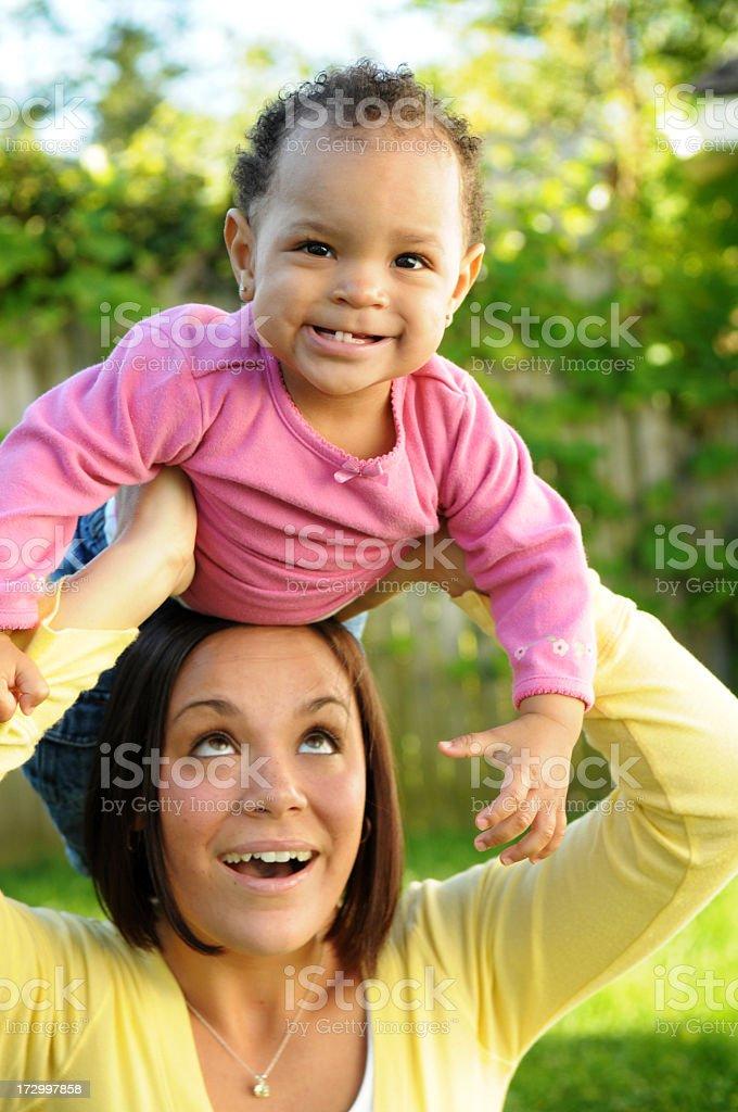 Fun with Mama! royalty-free stock photo