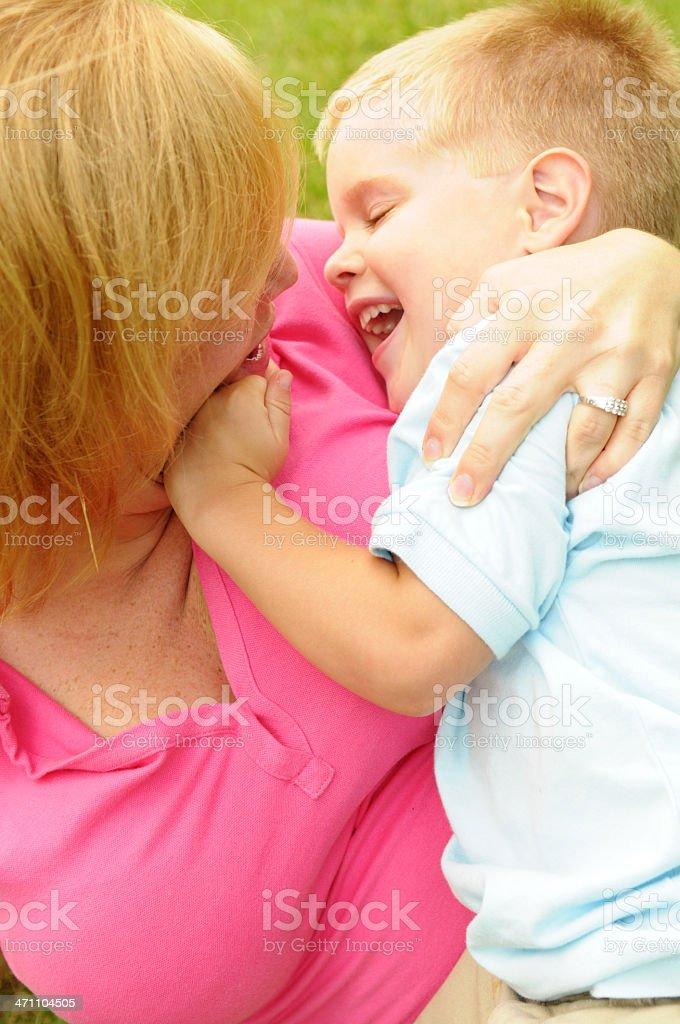 Fun with Mama stock photo
