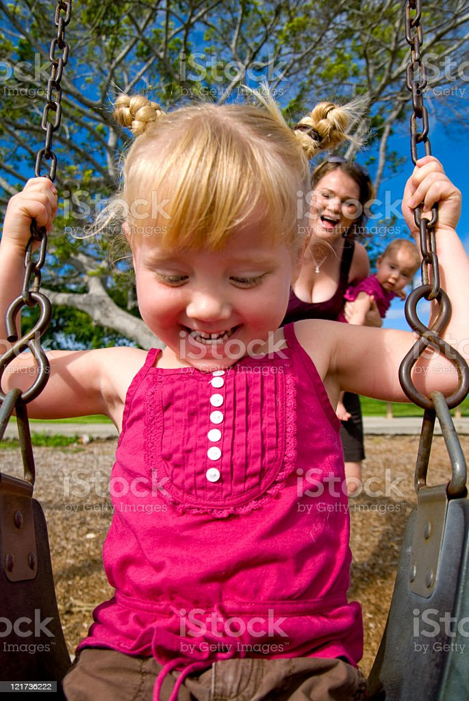 Fun with Mommy royalty-free stock photo