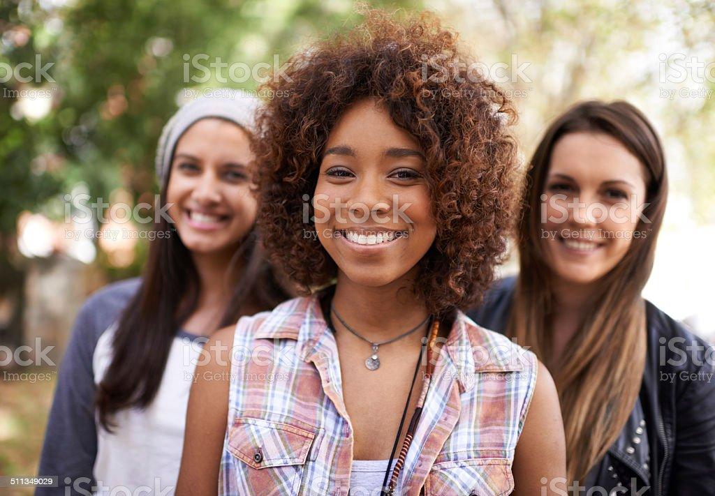 Fun with my girls stock photo