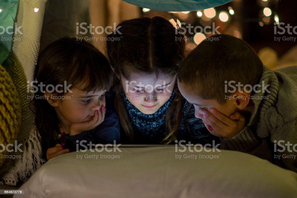 Fun With Siblings stock photo