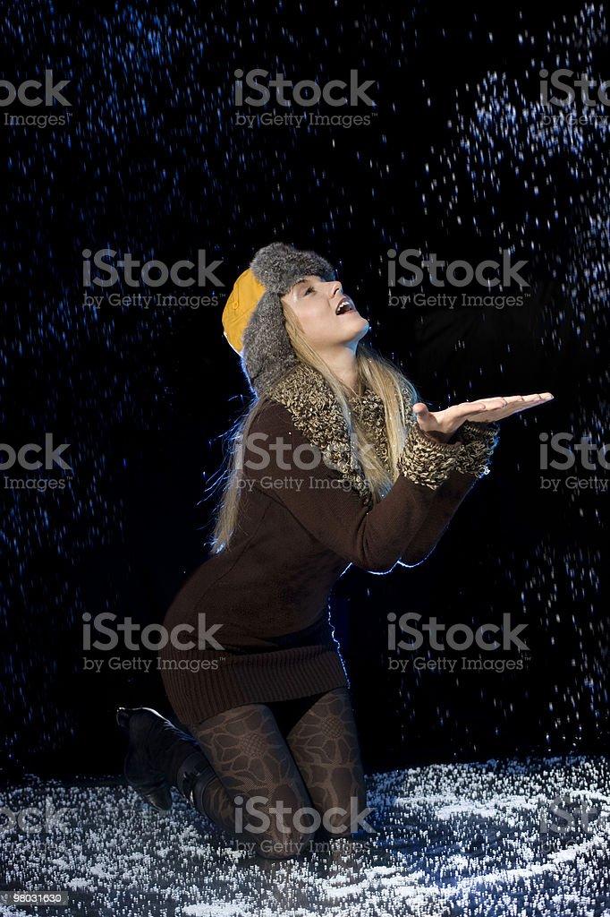 Divertimento con neve foto stock royalty-free