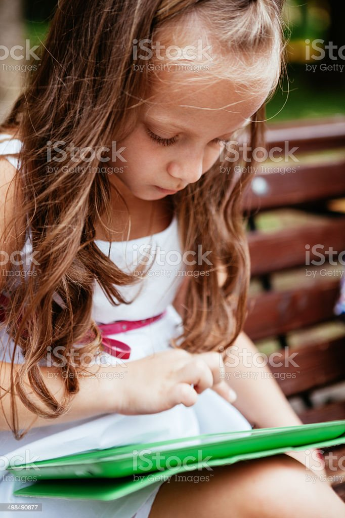 Fun with Tablet royalty-free stock photo