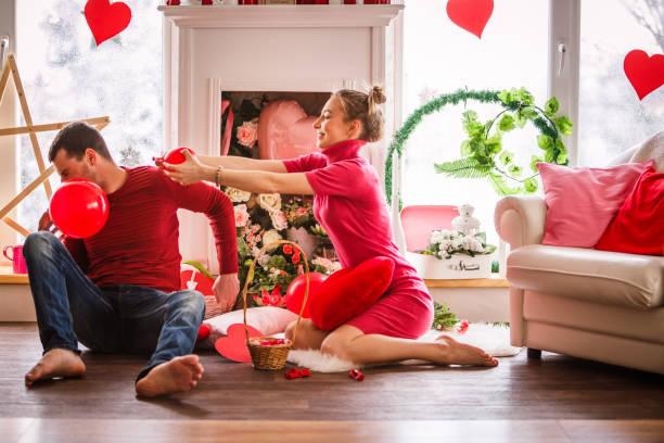 Spaß mit Valentinstag Ballons – Foto