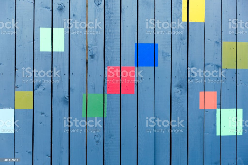 Fun Wooden Wall Decoration At Outdoor Cafe Colorful Wooden Wall Background Stock Photo Download Image Now Istock