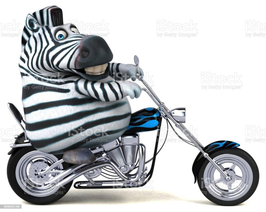 Cebra divertida - 3D ilustración - Foto de stock de Animal libre de derechos