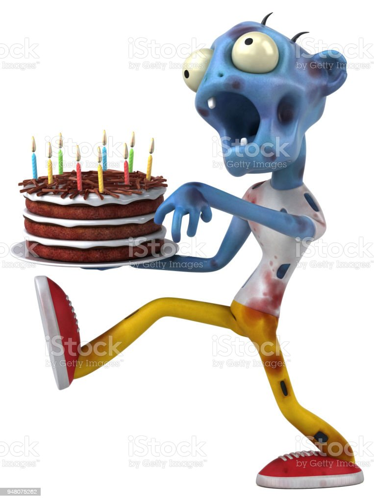 Fun Zombie 3d Illustration Stock Photo More Pictures Of Birthday