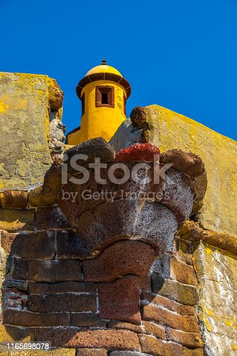 Tower of old fortress in Funchal, Madeira.
