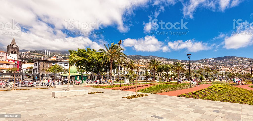 Funchal Promenade - Madeira stock photo