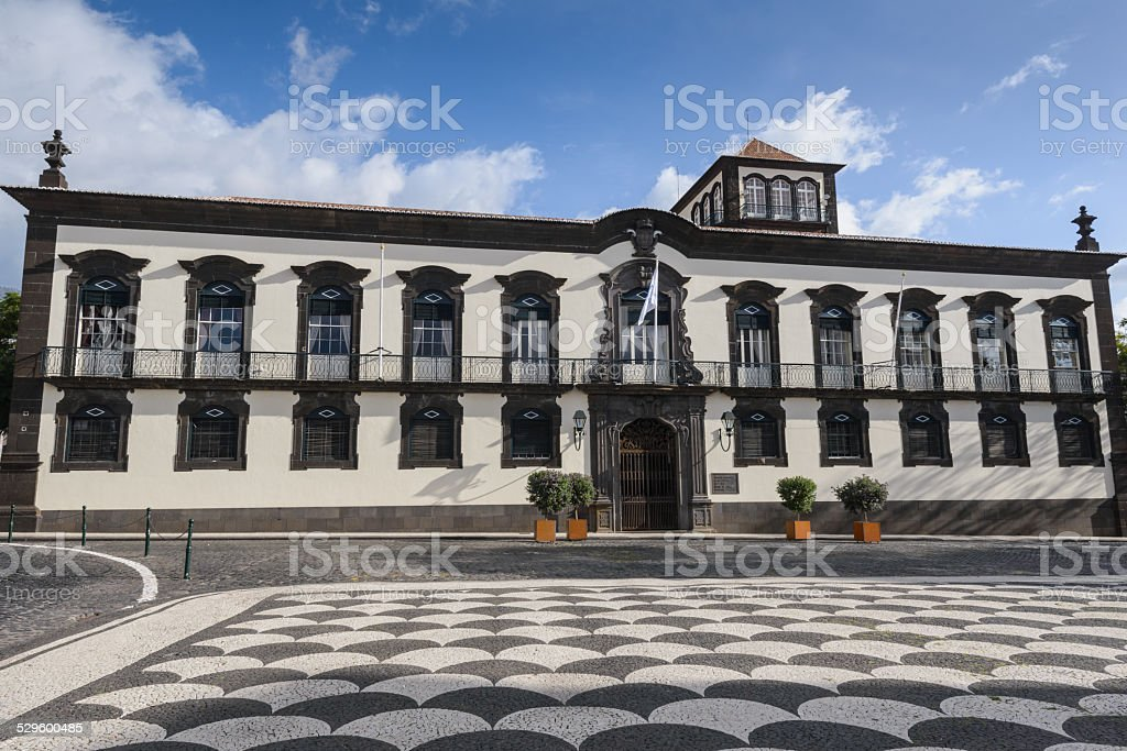 Funchal Town Hall building, Madeira (Portugal) stock photo