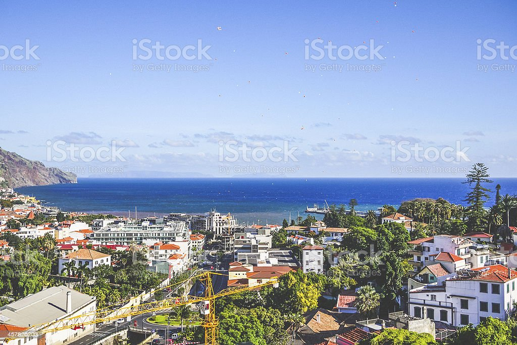 Funchal view. stock photo