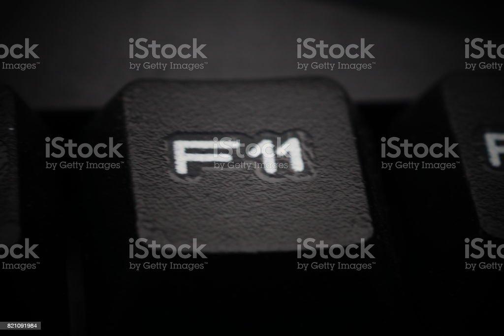 Function Keys Of Black Computer Keyboard Stock Photo
