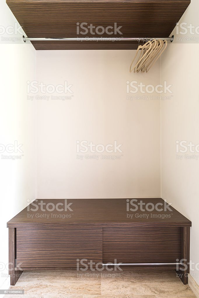 Functional alcove for outwear foto stock royalty-free