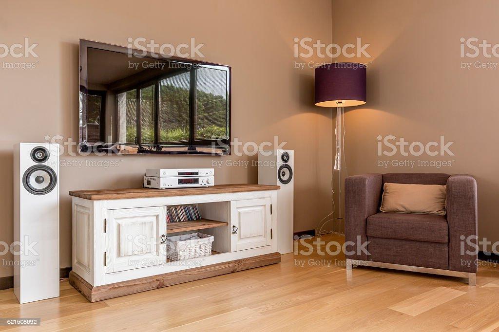 Functional tv living room idea Lizenzfreies stock-foto