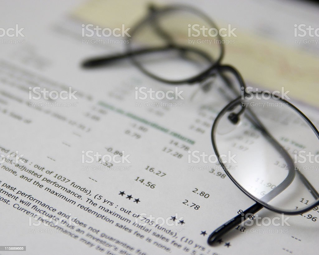 Fund performance review stock photo