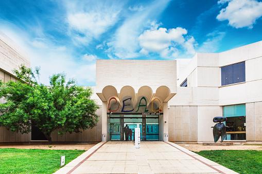 Barcelona, SPAIN - April 22, 2016: Fundacio Foundation Joan Miro