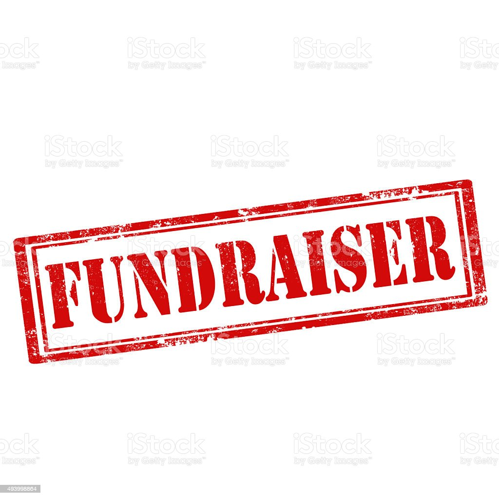 Fundraiser-stamp stock photo