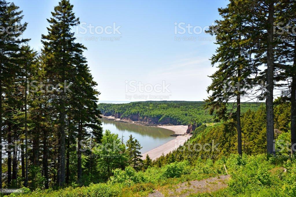 Fundy Trail Park (New Brunswick Canada) stock photo