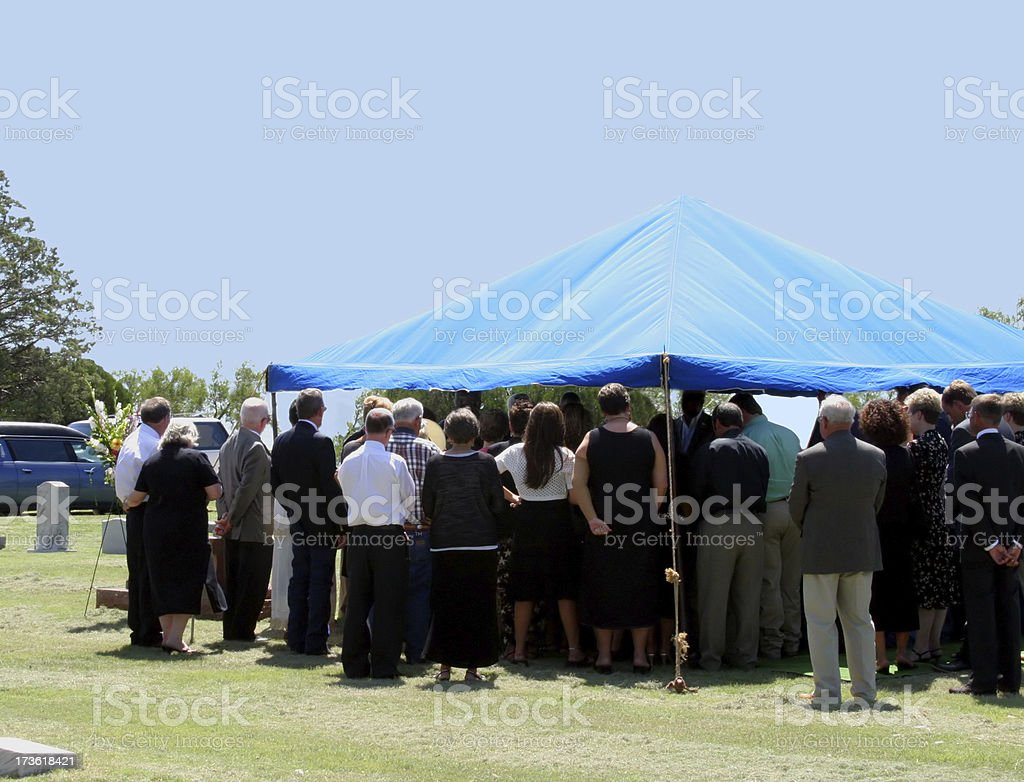 Funeral Farewell stock photo