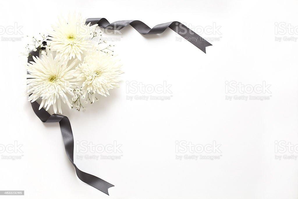 Funeral de flores foto royalty-free