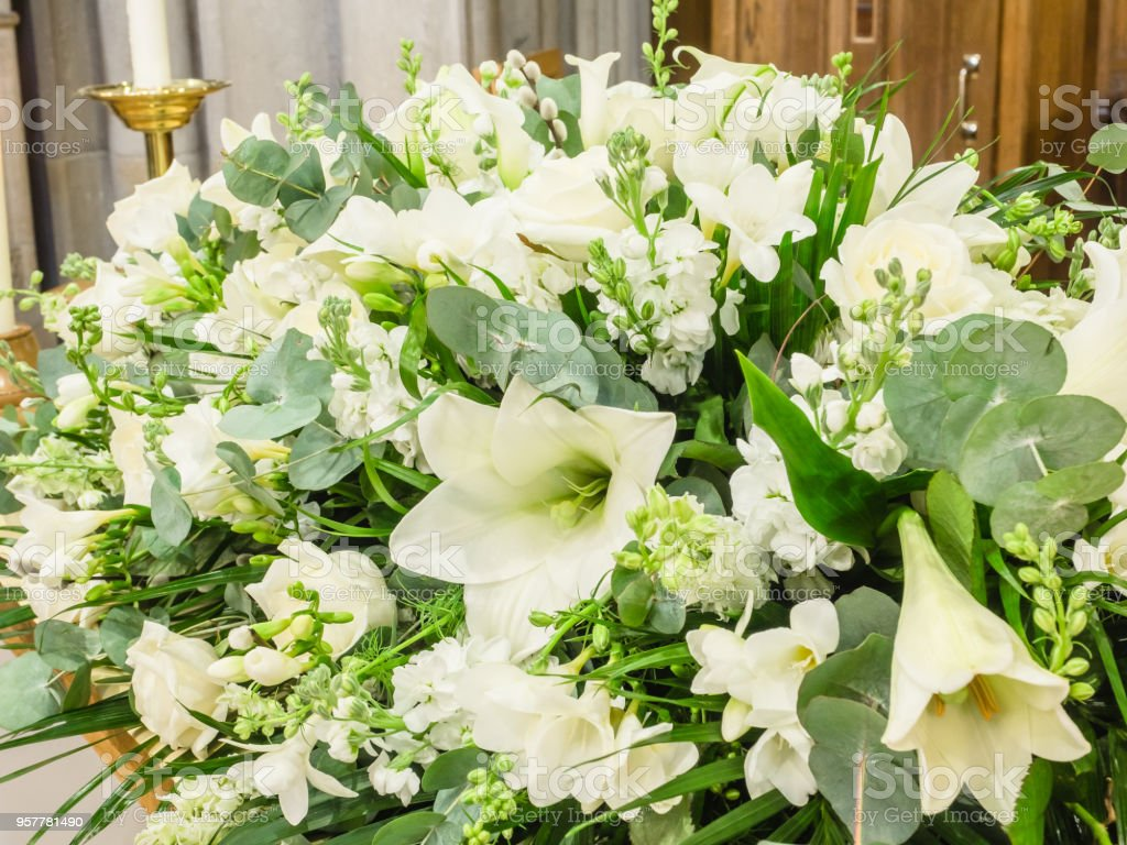 Funeral flowers stock photo more pictures of arrangement istock funeral flowers royalty free stock photo izmirmasajfo