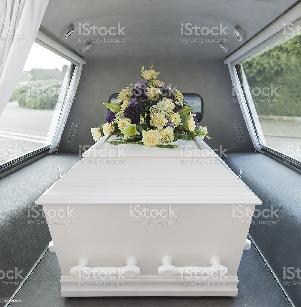 Funeral hearse stock photo