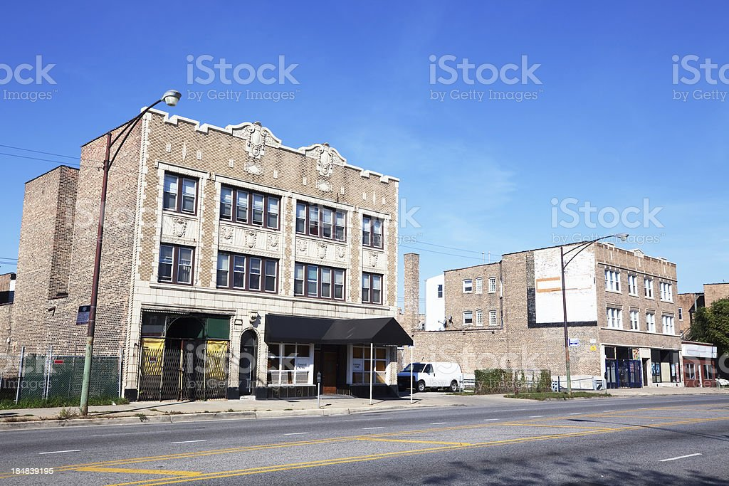 Funeral Home in Chatham, Chicago royalty-free stock photo
