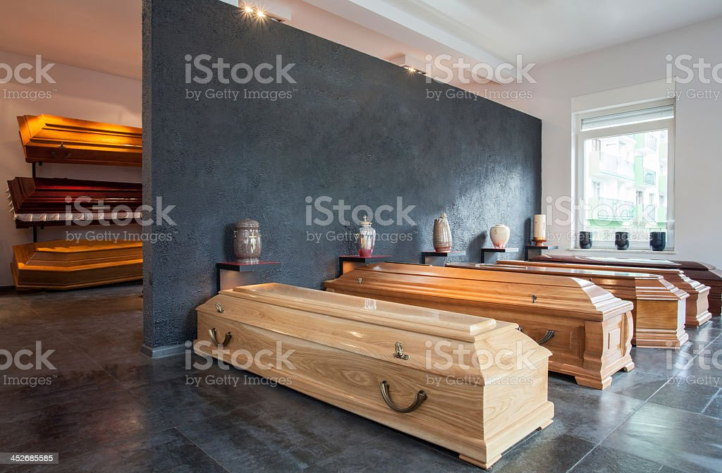 Funeral home stock photo