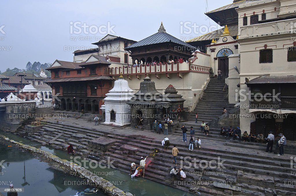 Funeral in Nepal stock photo