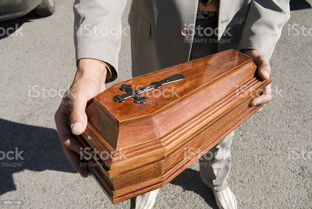Funeral of the pet royalty-free stock photo