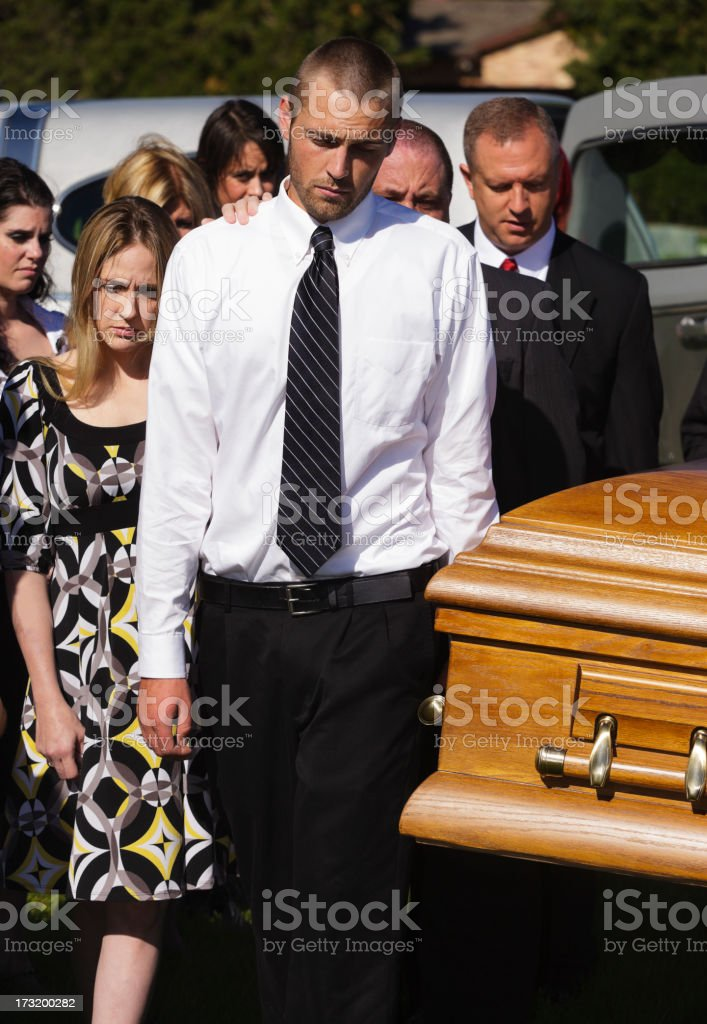 Funeral Pallbearer stock photo