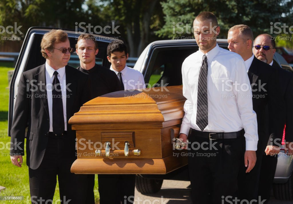 Funeral Pallbearers royalty-free stock photo