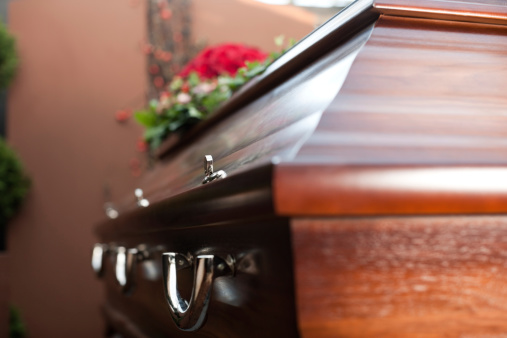 Funeral With Coffin Stock Photo - Download Image Now